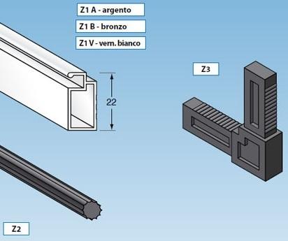 Profili alluminio per zanzariere fisse al go alluminio - Finestre fai da te ...
