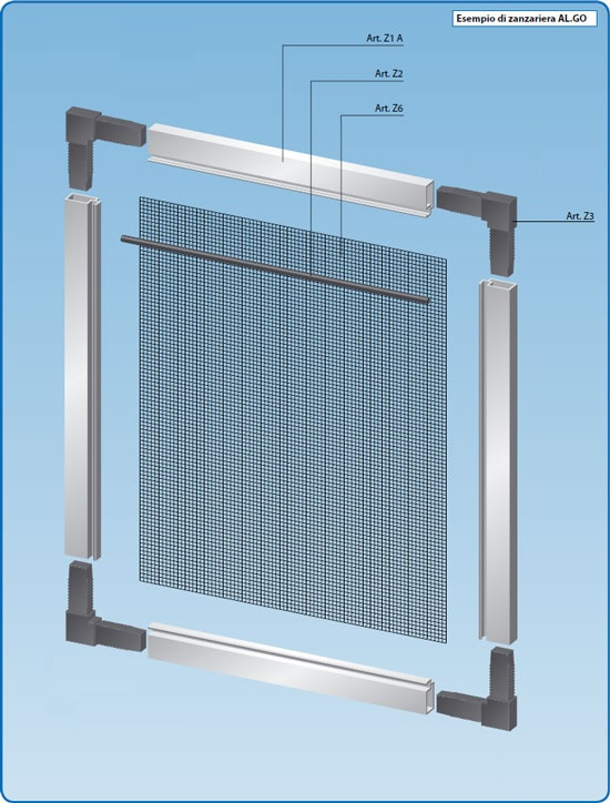 Profili alluminio per zanzariere fisse  AL.GO. ALLUMINIO