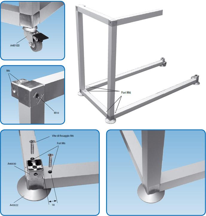 Strutture e telai in alluminio  AL.GO. ALLUMINIO