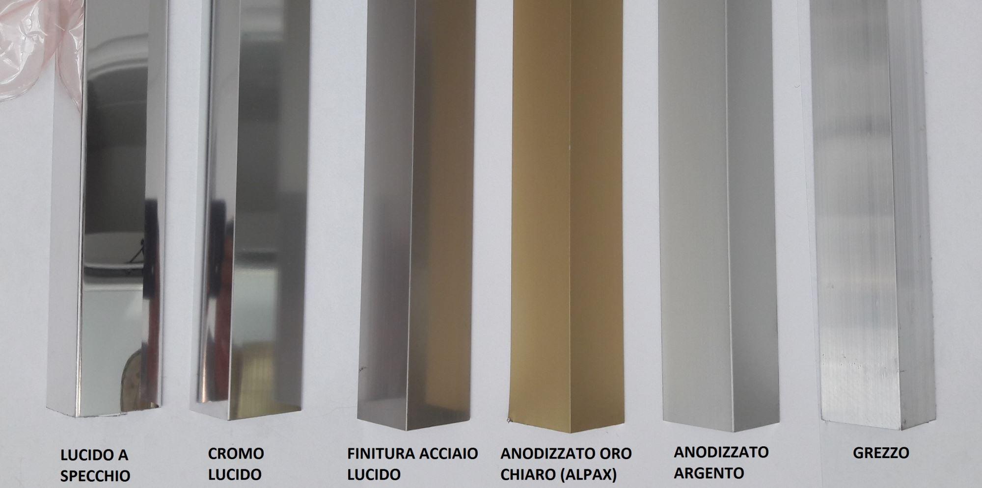 Profili commerciali alluminio anodizzato al go alluminio for Vendita led online