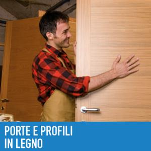 Porte e profili in legno