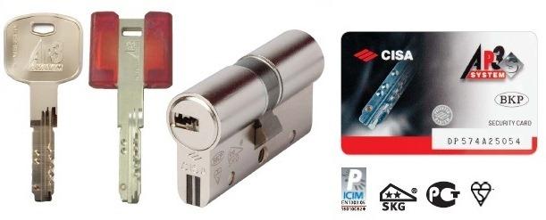 Conversione serratura da doppia mappa a cilindro europeo - Cilindro europeo cisa 5 chiavi ...