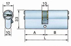 Forma e specifiche cilindro europeo
