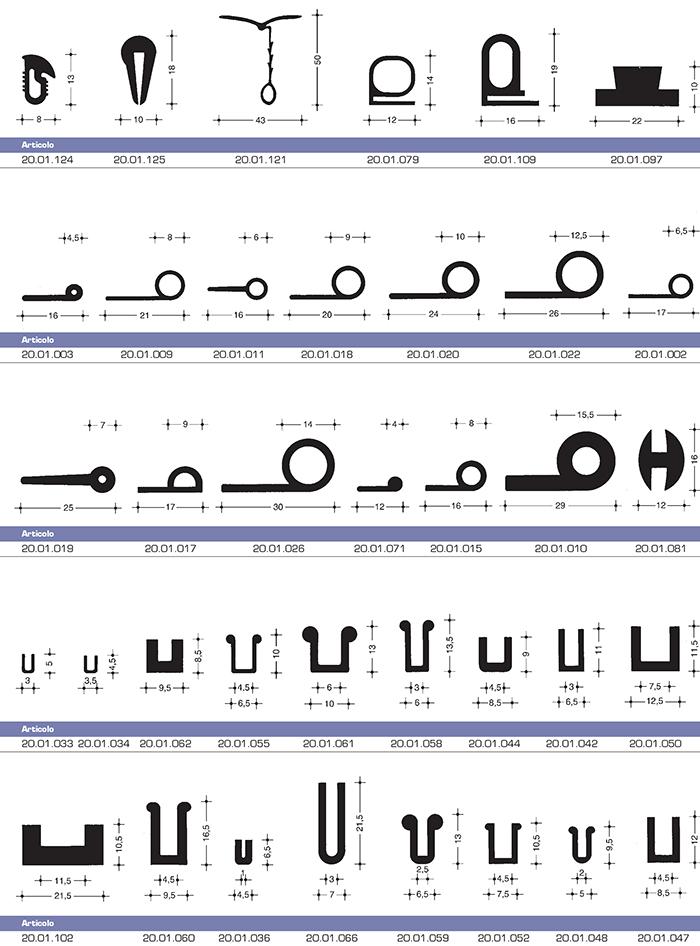 Trafilati e guarnizioni moroni gomma articoli tecnici for Tipi di tubi