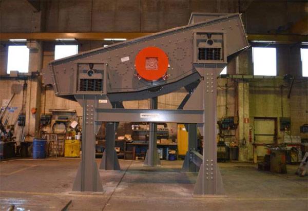 vibrovaglio rotazionale per carbone